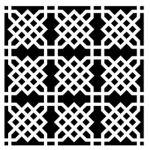 Sjabloon Knot garden - 240