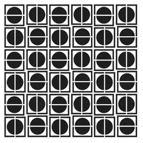 Sjabloon Circles in squares - 243