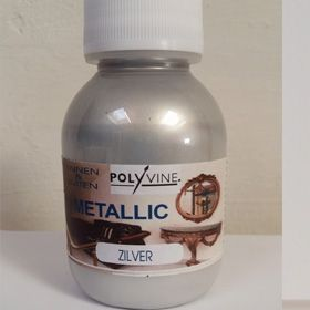 Polyvine metallic zilver 100ml
